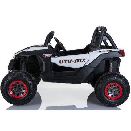 Электромобиль Buggy XMX603 белый (сенсорный дисплей, 2х местный, полный привод, резина, кожа, пульт, музыка)